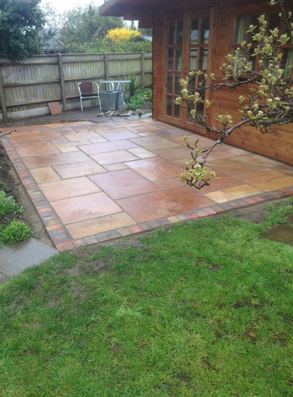 New patio, using Natural Sandstone sunset Buff patio packs